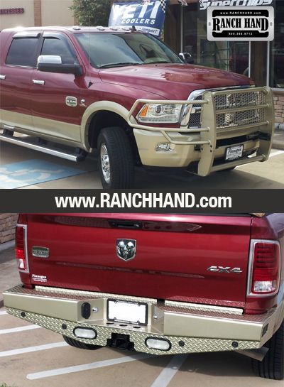 Dodge Ram MegaCab Truck with Custom Painted Ranch Hand Legend Grille Guard and Sport Back Bumper