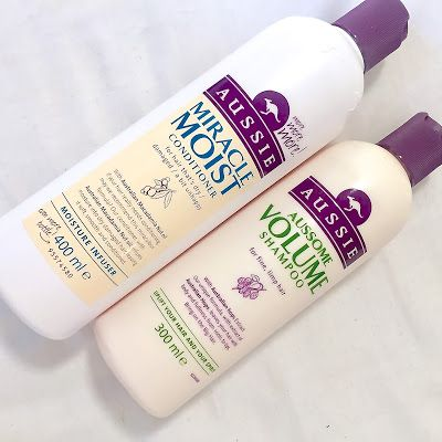 Aussie Aussome Volume Shampoo & Miracle Moist Conditioner Review...