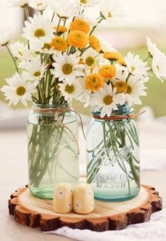 Wedding Flowers: 50 Creative Centrepieces - Cakes & Flowers | The Knot