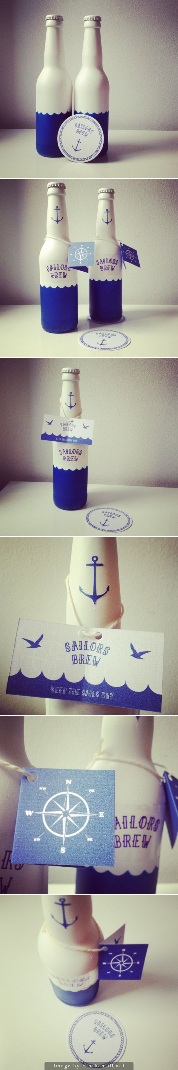 Closeup of Sailors Brew beer packaging curated by Packaging Diva PD
