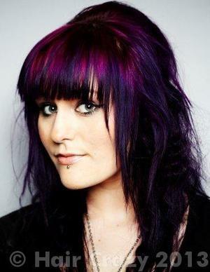 Midnight Purple Hair Color | HVS - - After Midnight Blue - Hot Hot Pink - Purple Haze