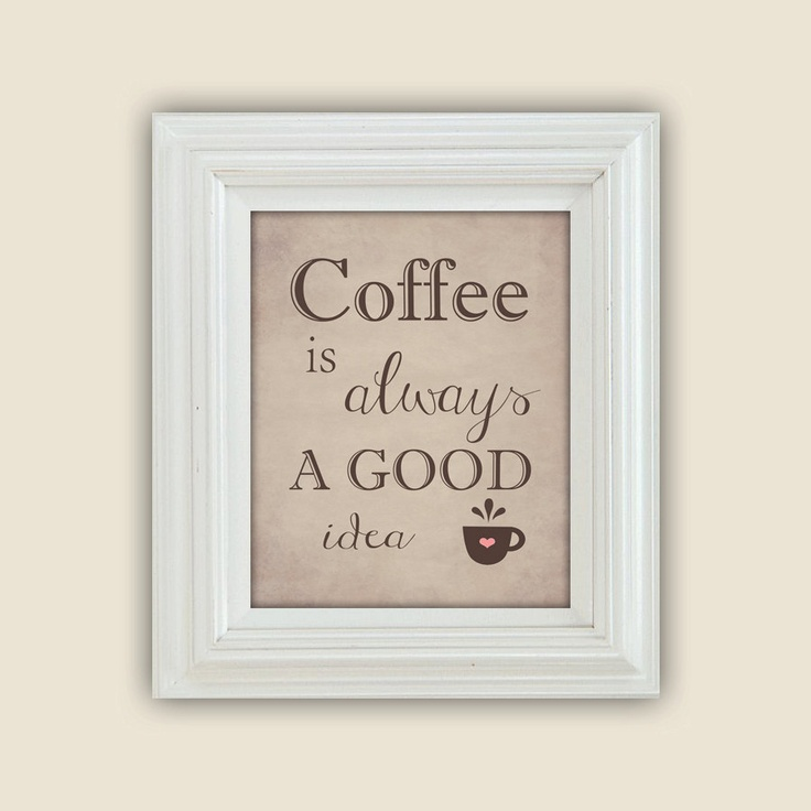 Coffee Kitchen Wall Art Home Decor Digital JPEG File. $10.00, via Etsy.