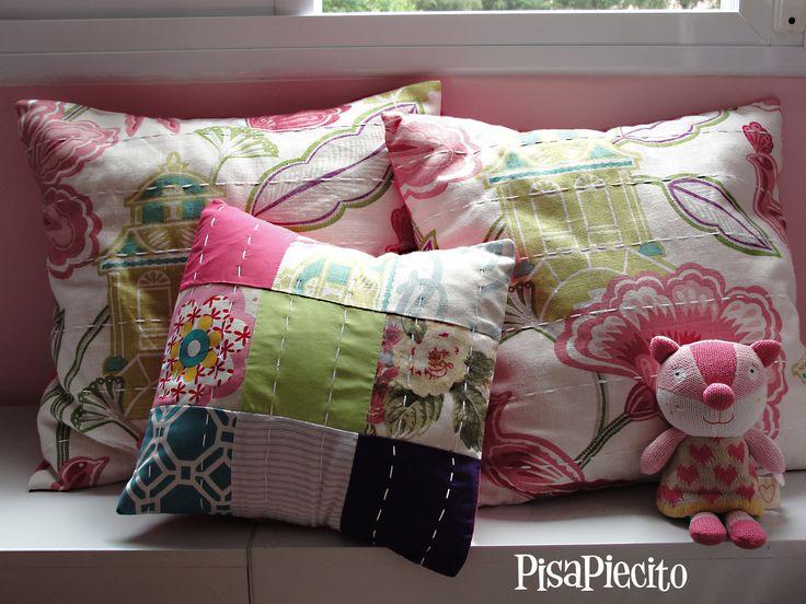 almohadones 50x50cm y 35x35cm