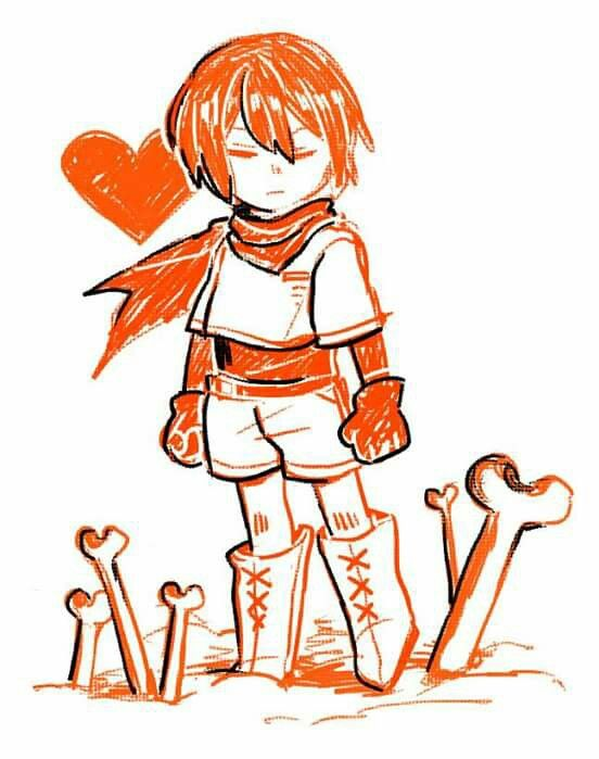Frisk cosplay of Papyrus