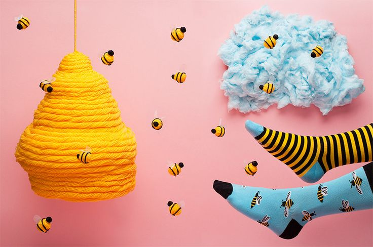 FULFILLED - Bee Bee Socks men socks colorful socks cool by ManyMornings
