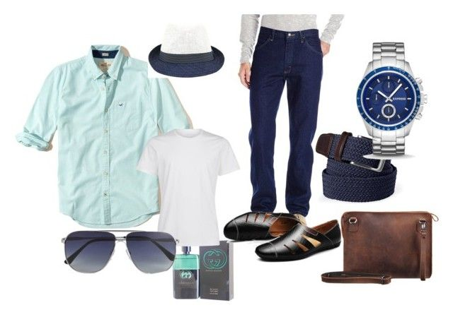 """""""Sommer 2017 man 60 Years - sport"""" by lenka-sykackova on Polyvore featuring Hollister Co., Fits, Lands' End, Gucci, La Perla, Express, Tom Ford, men's fashion and menswear"""