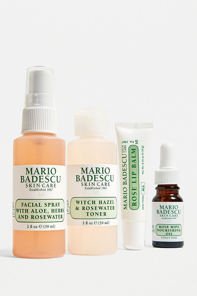 Mario Badescu Mini Must Haves Set Rose Edition In 2020 Rose Scented Products Mario Badescu Raspberry Seed Oil