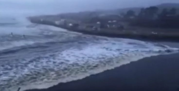 A tsunami like rogue wave came ashore in Washington state recently.