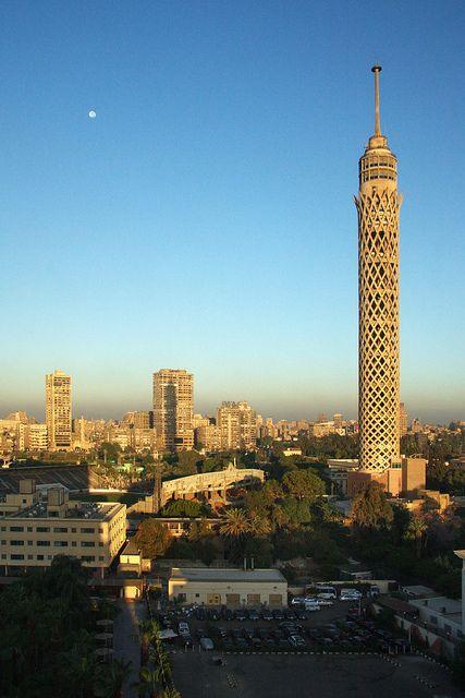 Cairo Tower Al Gezirah, Le Caire, Égypte.