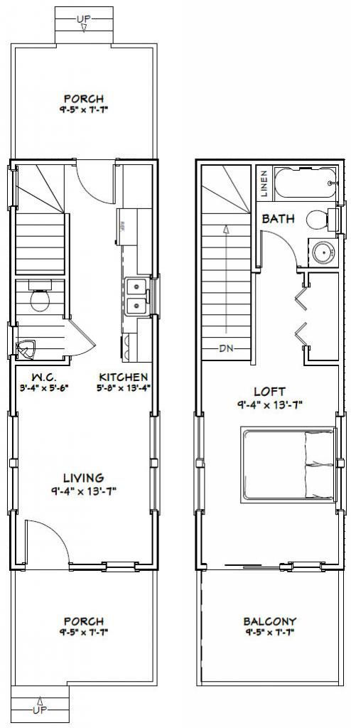 10x28 Tiny House -- #10X28H3 -- 475 sq ft - Excellent Floor Plans