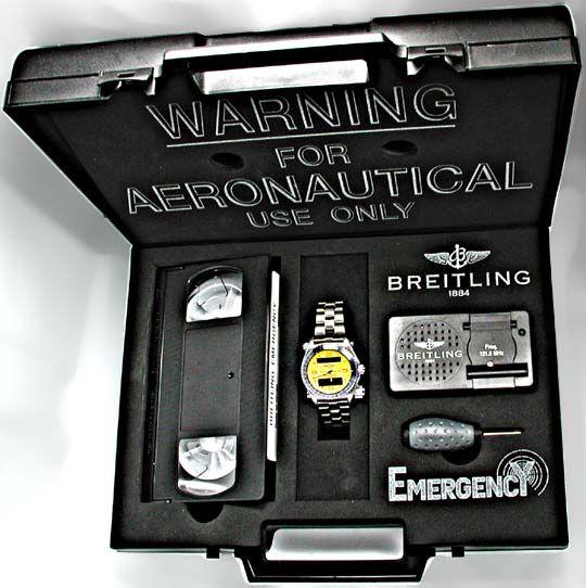 Foto 4, Orig.Breitling-Emergency Titan Shop! Neuzust. Portofrei, U1902