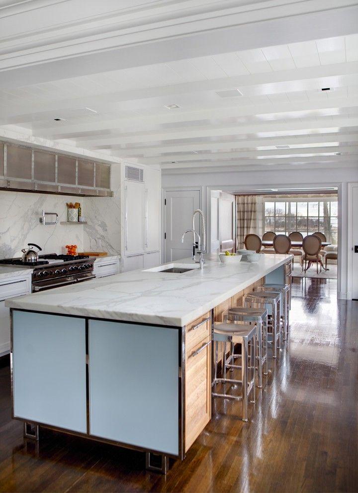 Hardwood Flooring Designs Kitchen Transitional with Handmade Tile Wine Glasses