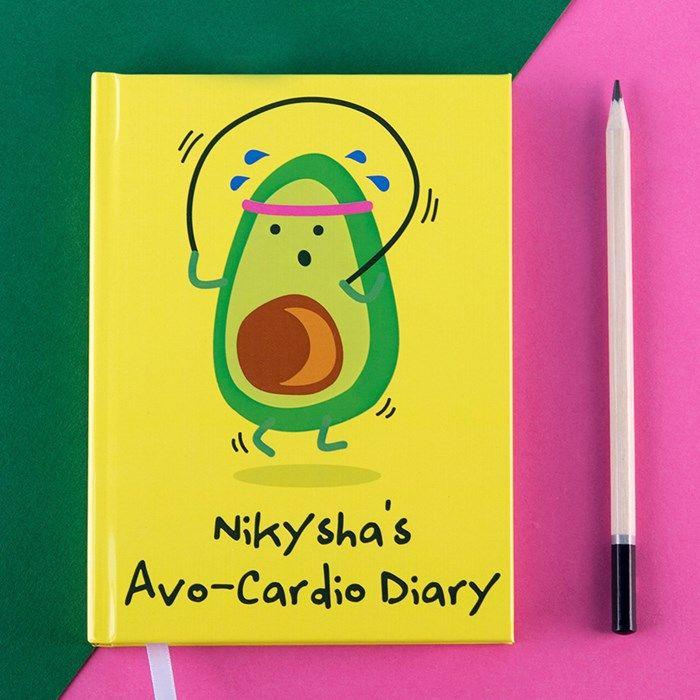 Personalised Diary - Avo-Cardio   GettingPersonal.co.uk