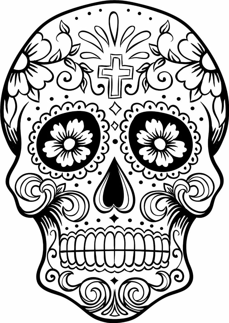 @complicolor Day of the Dead Skull Coloring Pages Printable pages and Coloring books for grown-ups at: http://www.complicatedcoloring.com