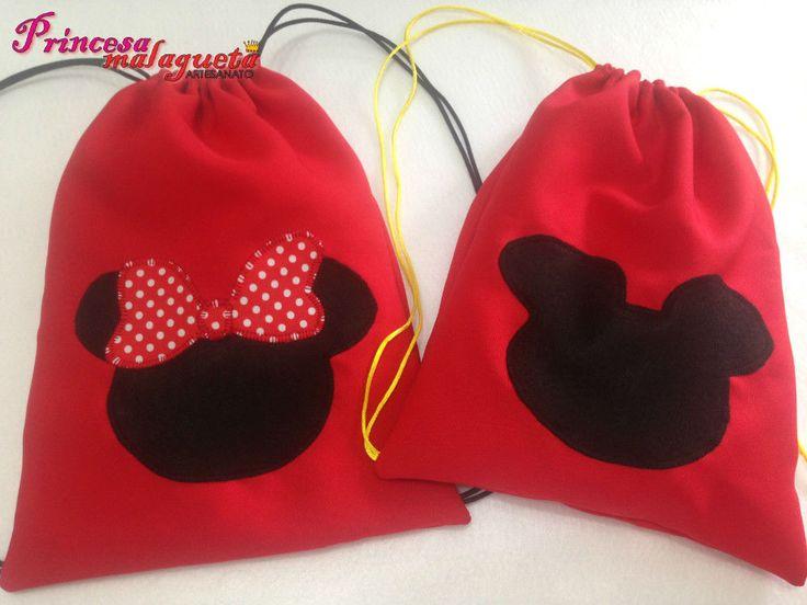 Mickey e Minnie Silhueta