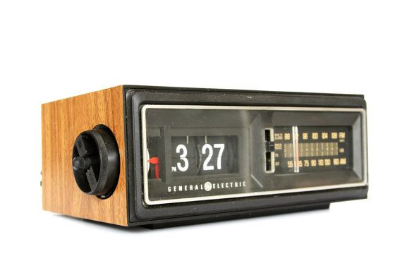 1970s Flip Clock ... I can hear the sound the numbers made as they flipped.