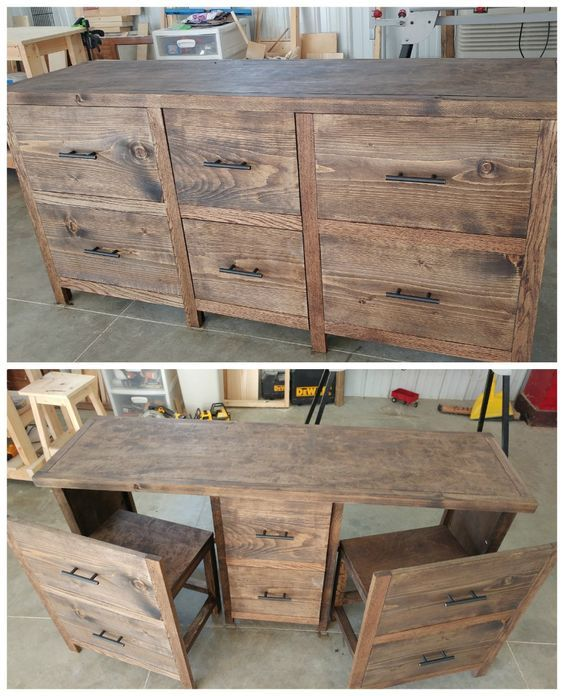 Diy Reclaimed Wood Furniture Pallet To In 2019 Projects Hidden Desk