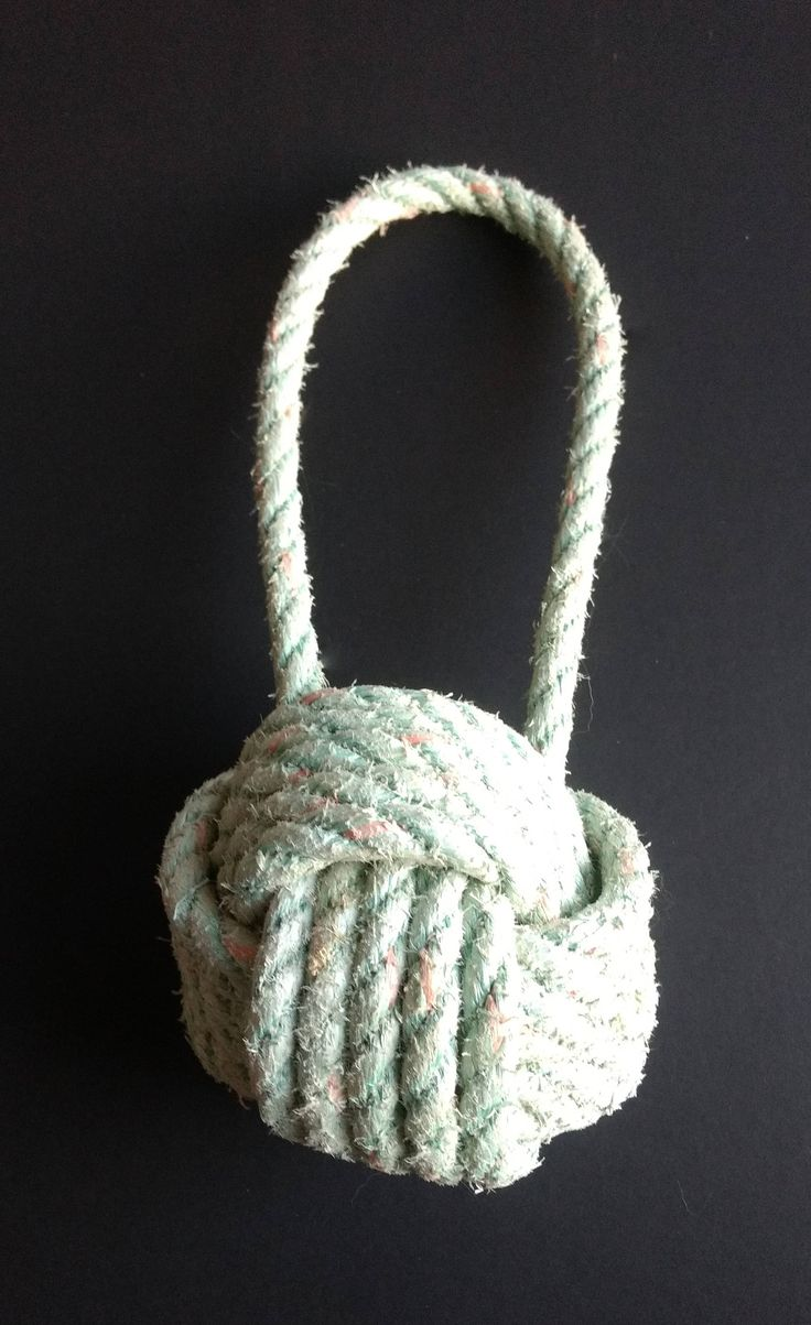 Monkey Fist Nautical Doorstop Sailors Knot Doorstop made with Reclaimed Lobster Rope Monkey Fist Knot