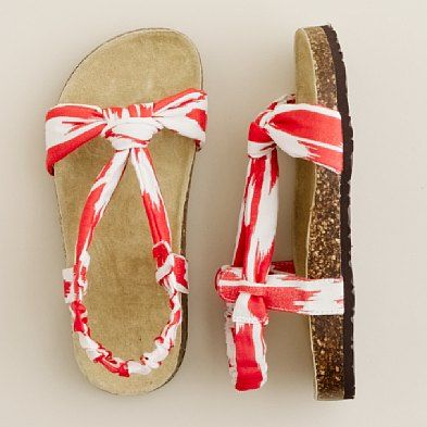 bow sandals- sure, they're for little kids but, it's pretty nice to have little feet :)