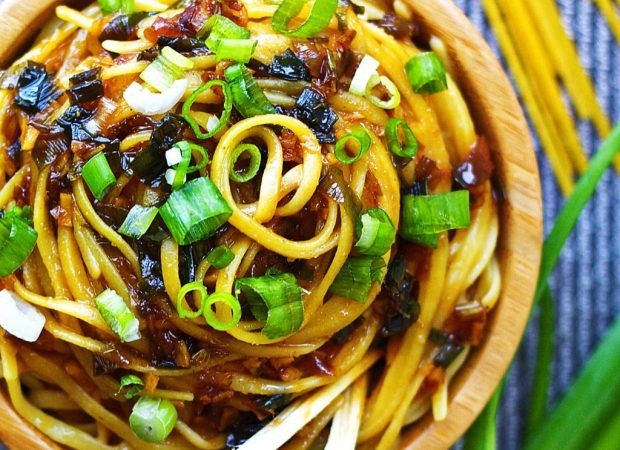 Garlic Coconut Noodles 12 oz. Rice noodles 3 Tbsp. Canola oil 1 cup Bell peppers, diced 2 cups Eggplant, peeled and diced 2 cloves Garlic, minced 1 can Native Forest® Organic Coconut Milk 1 Tbsp. P…