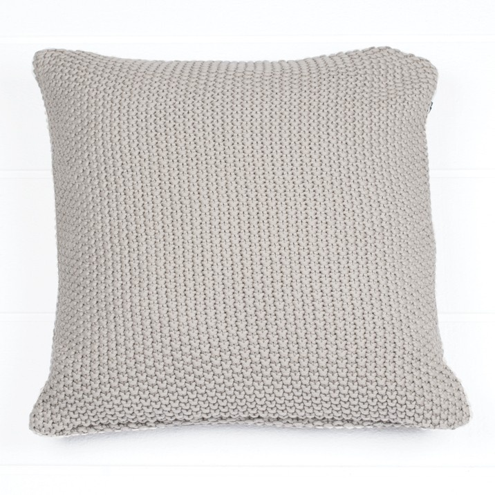 Moss Stitch Pierre Taupe Cushion - Cushion Pierre Taupe 40X40Cm