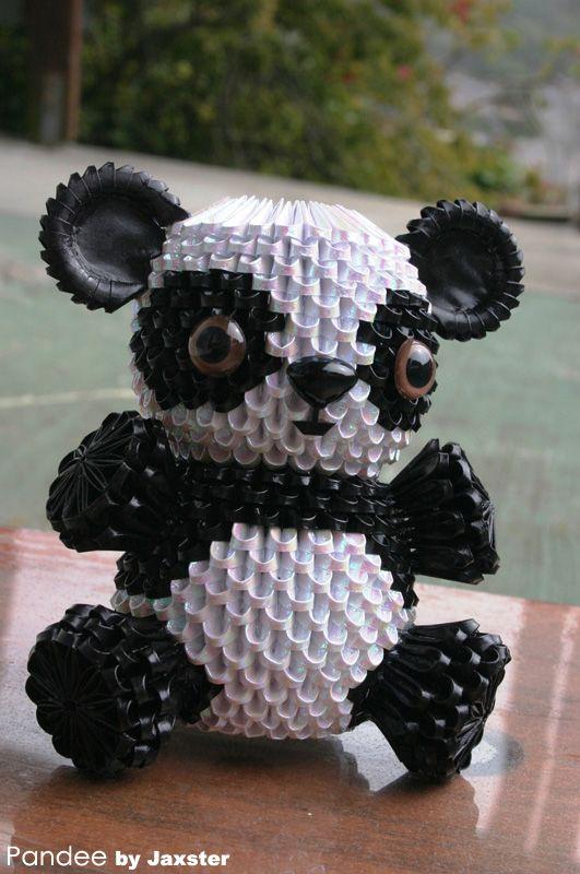 3d origami panda                                                                                                                                                     More