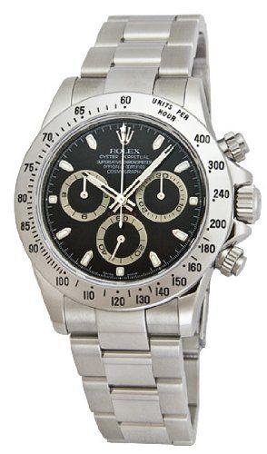 Rolex   Review Rolex Daytona Black Index Dial Oyster Bracelet Mens Watch 116520BKSO By Rolex