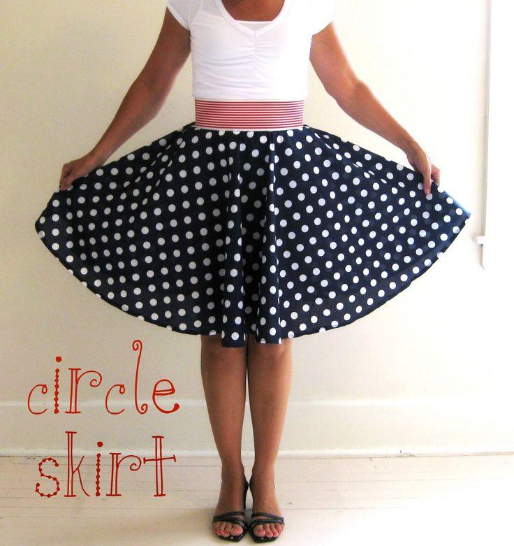 How to make a circle skirt. #diy #tutorial