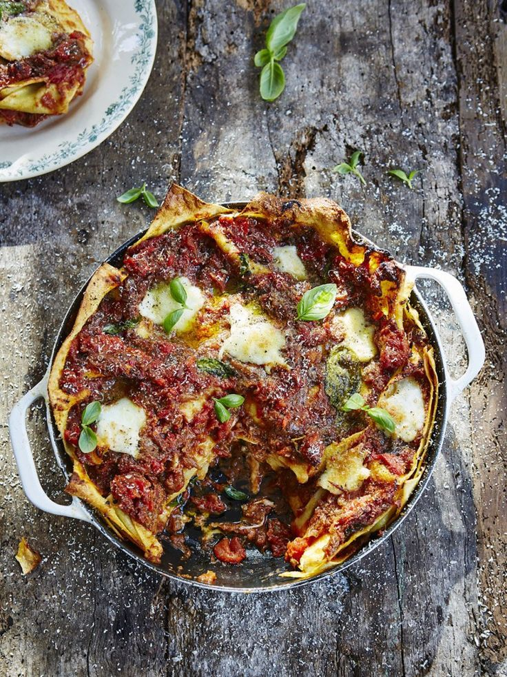 Aubergine lasagne (keep in mind that Parmesan is includes rennet, from the lining of calves stomachs)