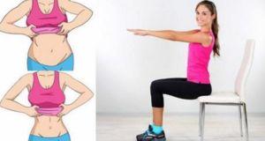 5 Ejercicios con una silla para quemar la grasa adherida a tu vientre