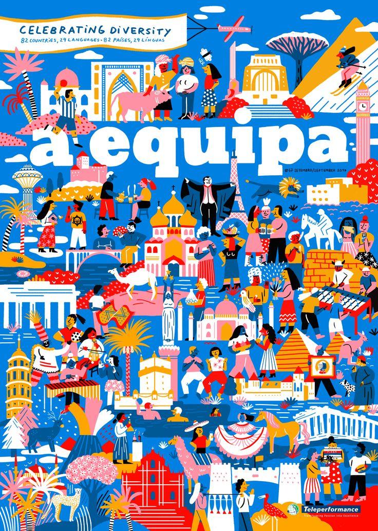 #anaseixas #newdivision #illustrator #aequipa #editorial #cover #character #digital