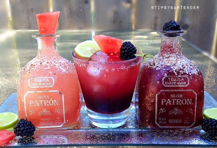 Sandia Margarita - For more delicious recipes and drinks, visit us here: www.tipsybartender.com