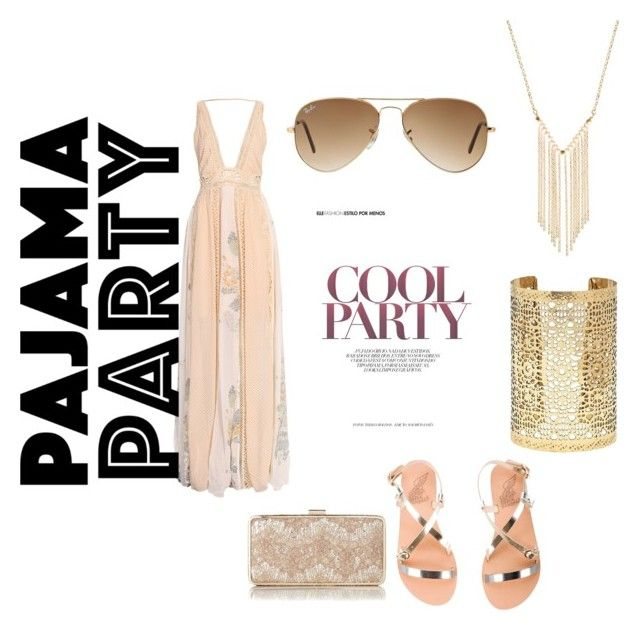 """""""Cool Party"""" by kati-fagerstrom on Polyvore featuring Ancient Greek Sandals, L.K.Bennett, Forever 21, Gemelli and Ray-Ban"""