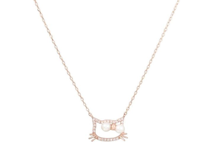 14k gold pearl cz necklace