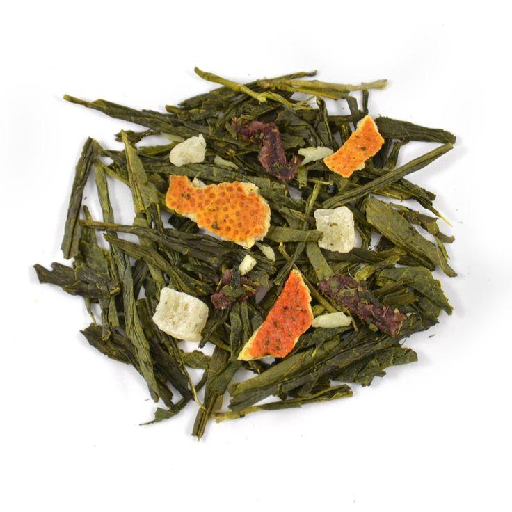 Honolulu - Zomers fris melange van groene thee met de tropische zachte, zoete smaak van de rijpe ananas en sinaasappel.