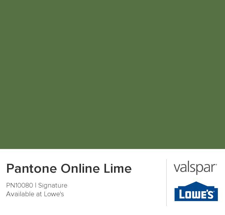 Pantone Online Lime from Valspar