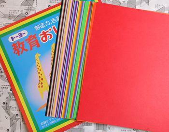 豊富は色を簡単に手に入れるなら、折り紙もおすすめです。