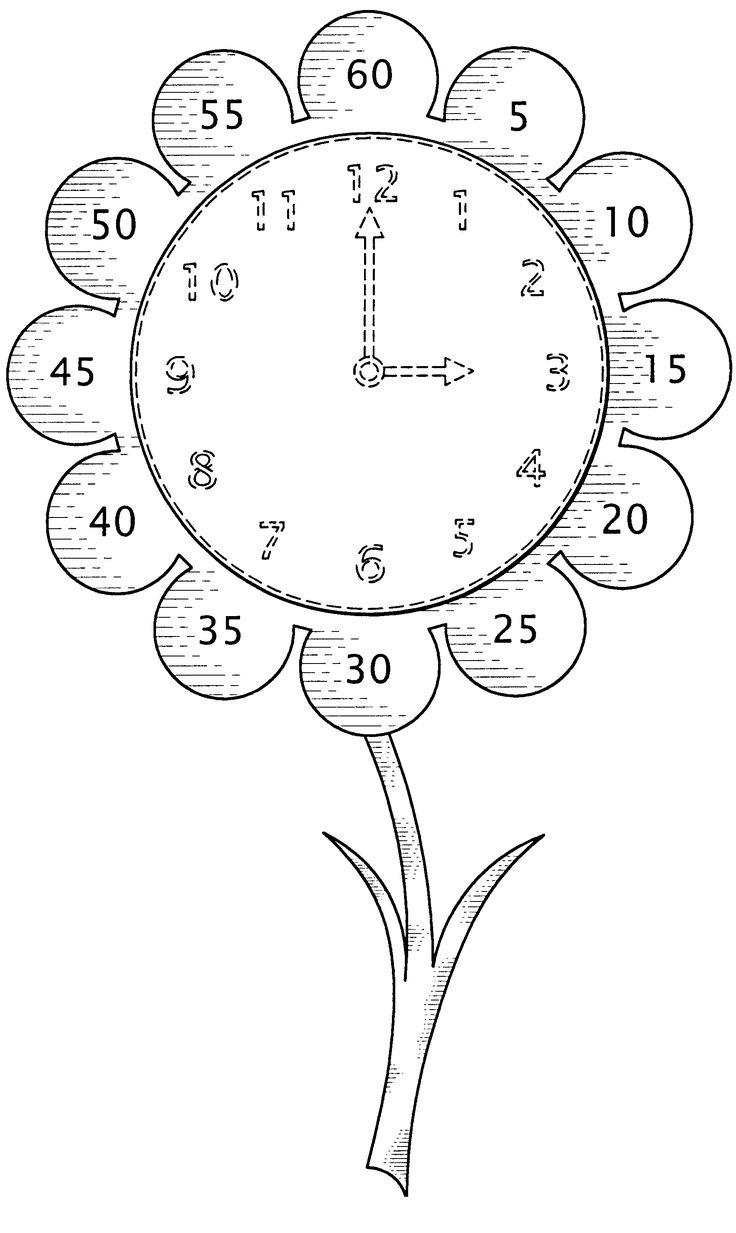 Horloge fleur pour apprendre à lire l'heure