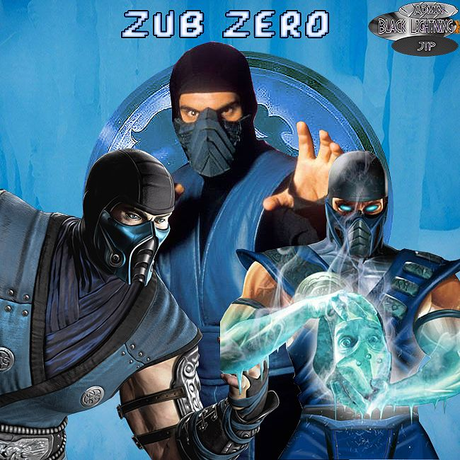 hope you all enjoy this zub zero pic i created  Black Lighting