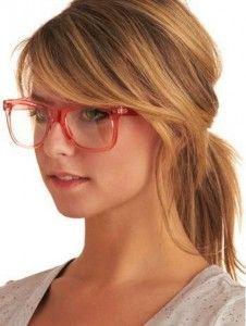 yandan kahküllü gözlüklü saç modeli 2016