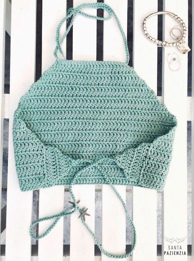 Halter Top de Crochet | SANTA PAZIENZIA