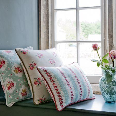 """Clarke & Clarke """"Rosetta"""" collection cushions"""