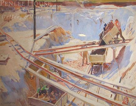 'The Clay Pit, 1914' Laura Knight - Artists - Penlee House Gallery and Museum Penzance Cornwall UK