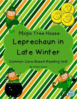 Leap like a leprechaun into this Magic Tree House Leprechaun in Late Winter Reading Unit with short answer questions for every chapter and vocabulary activities. The unit contains:* Higher level Bloom's taxonomy Common Core based questions for every chapter as well as space for students to record answers.