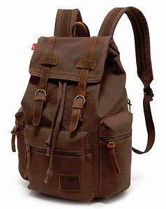 Retro Vintage Canvas Backpack Travel Sport Rucksack Satchel School Hiking Bag | eBay