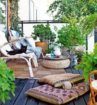 Un beau balcon aménagé