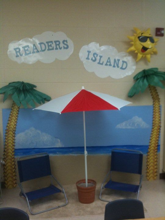 My reading center, my classroom theme is under the sea- I wonder if I could make something like this work in my room