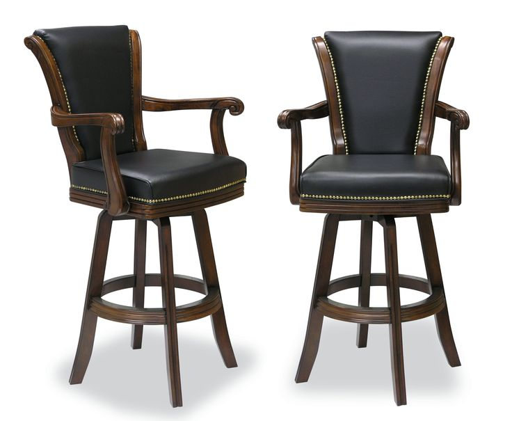 Amazon Com Two Executive Swivel Barstool With Carved