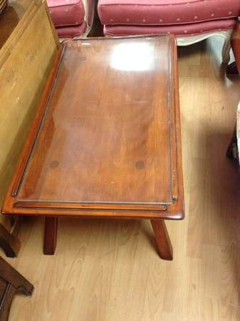 Exceptional COFFEE TABLE MADE BY CUSHMAN COLONIAL CREATION IN VERMONT! ANTIQUE!   $150