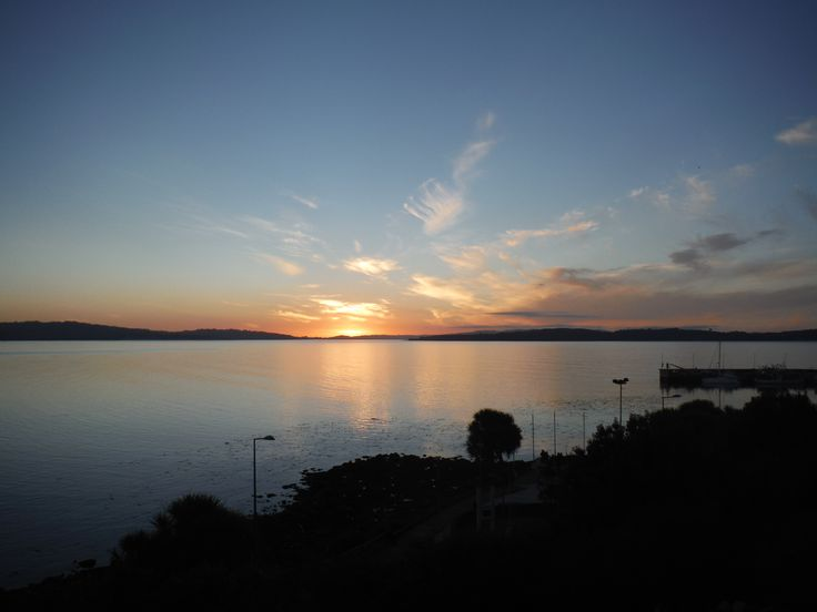 Sunset over the bay at Ancud